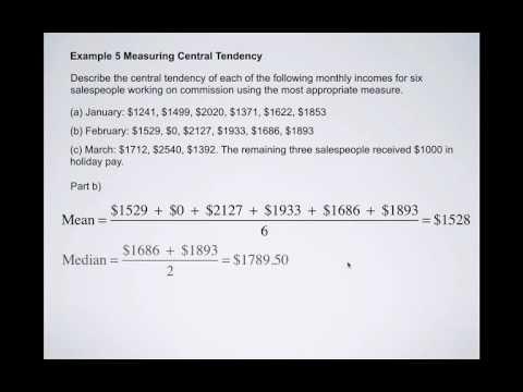 Measures of Central Tendency 2