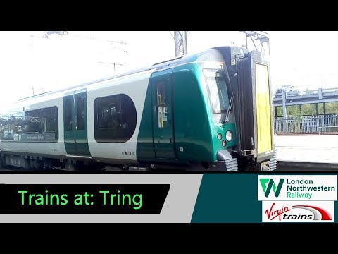 Trains at: Tring - WCML - 31/8/18 - inc. new livery 350267 & pride 390045