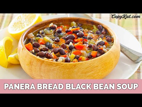 Panera Bread Black Bean Soup