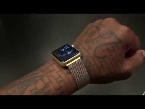Gold Apple Watch Milanese Mesh Band