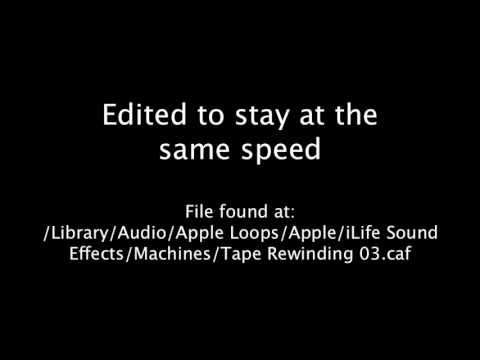 Tape Rewinding 3 Slowed Down (iMovie Sound Effect)