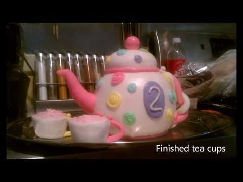 Making of chloe's tea pot cake