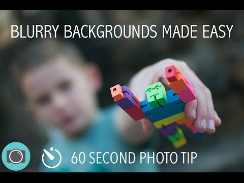 How to blur the background - DSLR photography tips and tricks - 60 Second photo tip