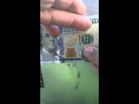 How to check if 100 dollar bill is real