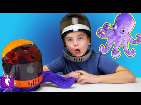 World's TINIEST Toy Surprises! Space Octopus + Nerf BLASTERS with HobbyKidsTV