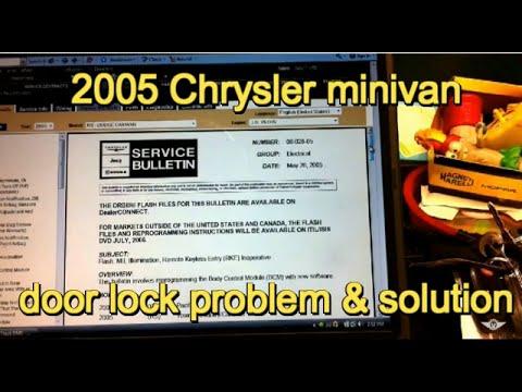 2005 Dodge Grand Caravan power door lock problem service bulletin 08-028-05