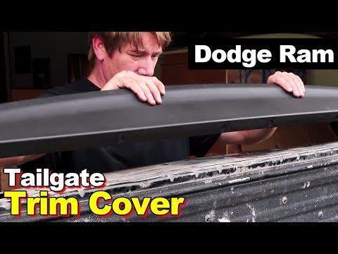 2009-2016 Dodge Ram Pickup Tailgate Cap Top Plastic Molding Cover