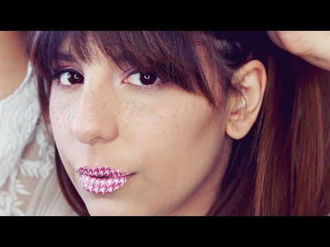 LIP TATTOO and FAUX FRECKLES Makeup Tutorial (Pink Eyeshadow)