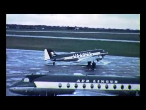Aer Lingus Planes taking off Dublin Airport 1950's