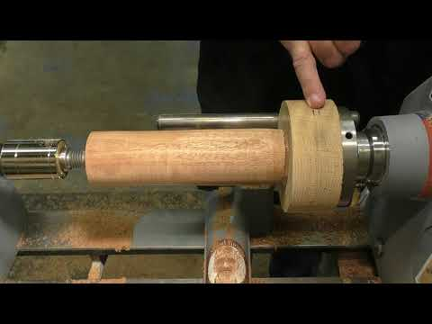 Wood Turning - No Chuck .... No Problem! #1 A Goblet