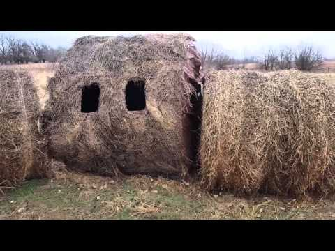 Home made hay bale blind