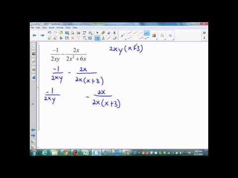 sec9 5 Part 1 alg 2 adding and subtracting rational expressions