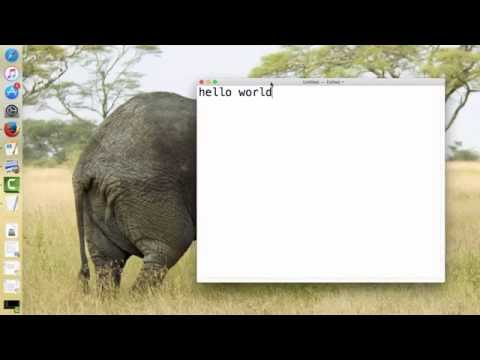 Starting HTML: Hello World on OSX's TextEdit
