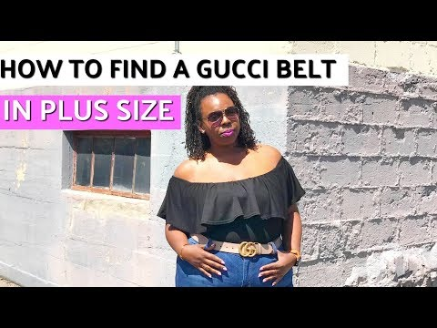 How to Find a Gucci Belt in Plus Size
