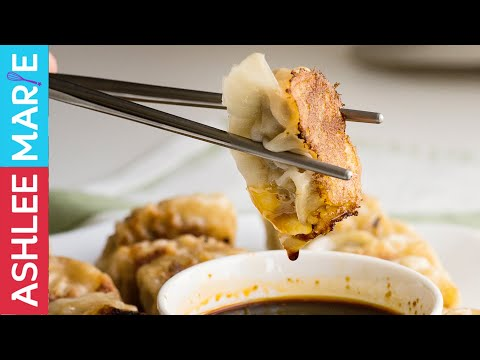 How to make Japanese Pork and Cabbage Gyozas - Pan fried dumplings