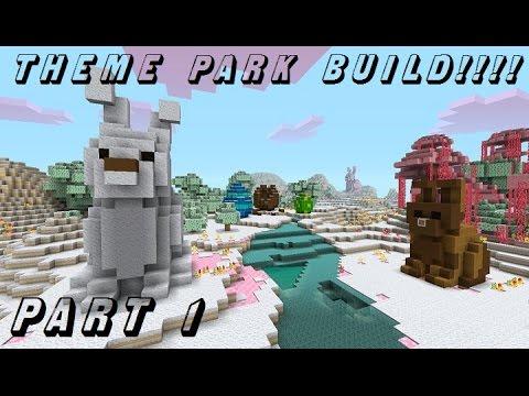 Minecraft Xbox 360 - Theme Park Build - Candy Texture Pack - (Part 1)