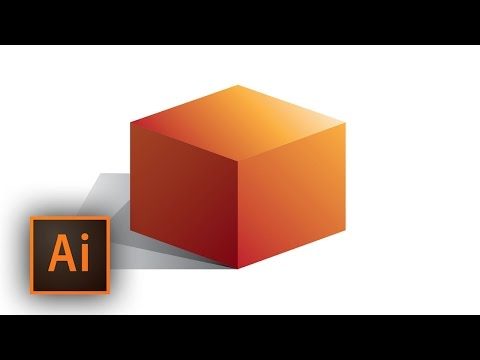 Illustrator: Use The Gradient Color Tool to Create A Cube