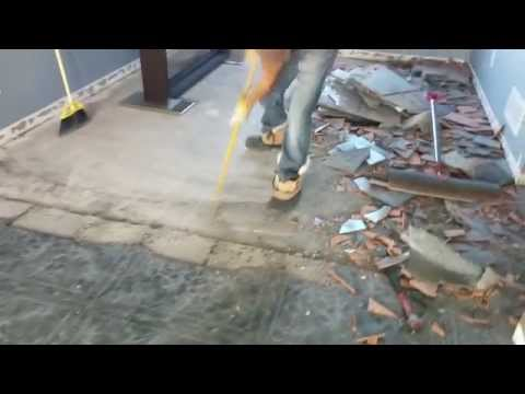 How to remove the tile fast without power equipment