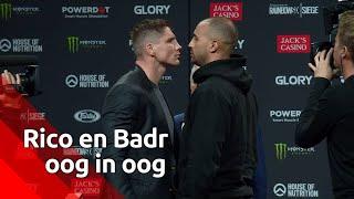 Staredown Rico Verhoeven en Badr Hari