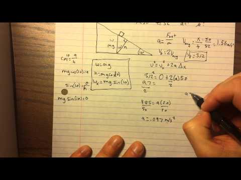 Finding the Acceleration of an Object with no Mass Down a Ramp