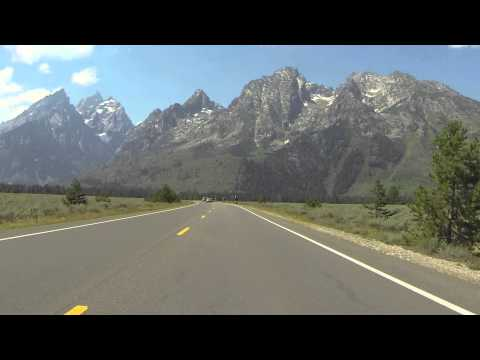 Driving in Grand Teton National Park - GoPro