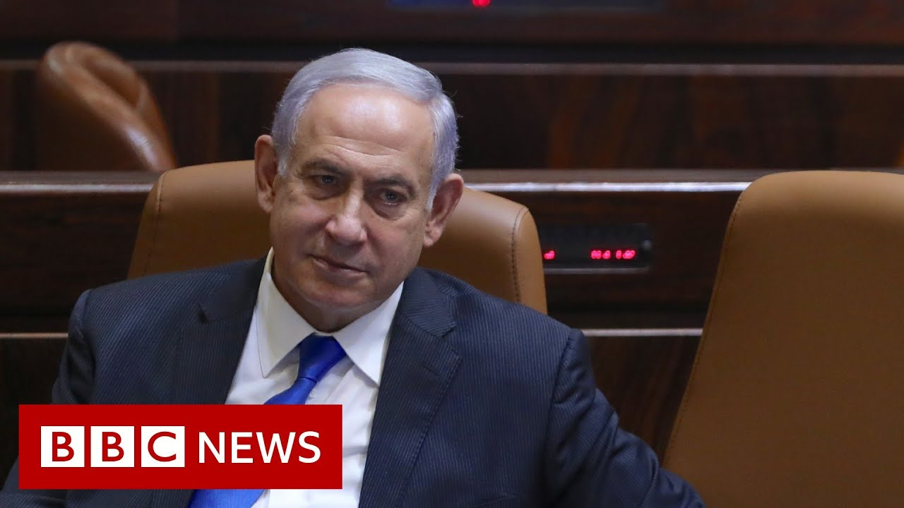 Former Israel PM Netanyahu sits in wrong chair after loss  - BBC News