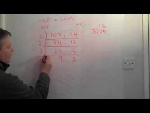 How to work out HCF (GCF) and LCM using short division