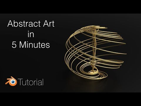 Tutorial: Beautiful Abstract Shapes In Blender