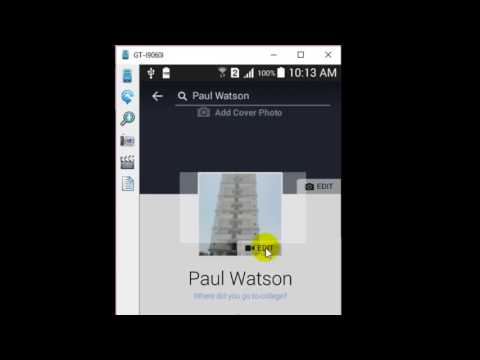 How to change profile picture in Facebook android app