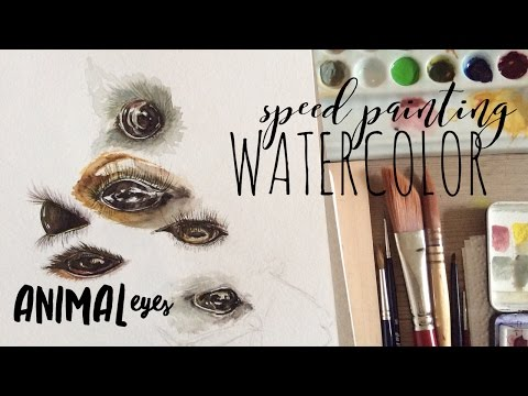 How to use Watercolors:  How to Paint Animal Eyes