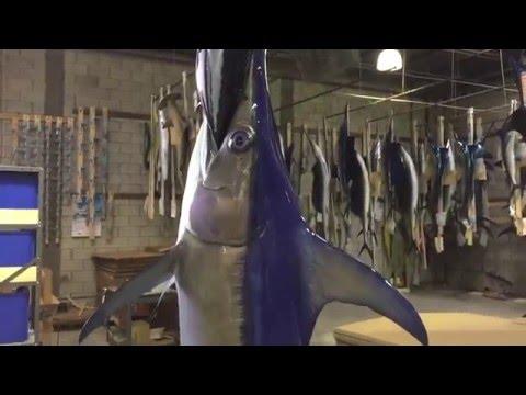 Swordfish mount - Gray Taxidermy Fishmounts, Custom fish reproductions