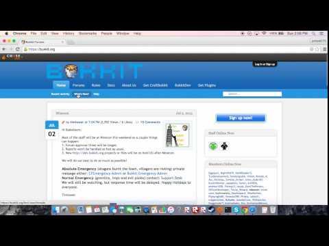 how to download minecraft bukkit server plugins Mac only