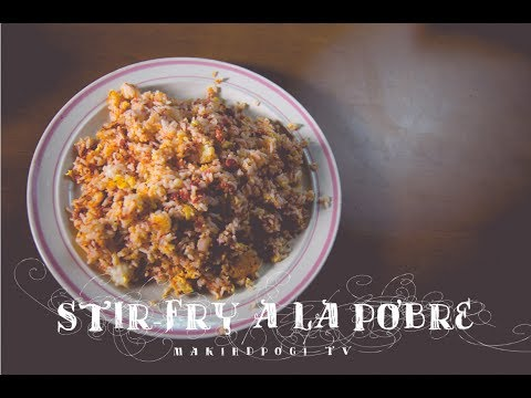 Stir Fry A La Pobre ☆ Sinangag na may Corned Beef by Philippine Master Chef Recipe