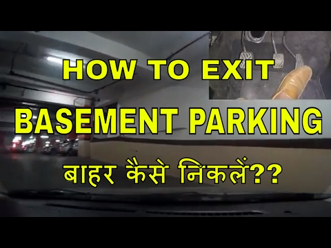 HOW TO EXIT FROM BASEMENT PARKING || ON INCLINED RAMP || DESI DRIVING SCHOOL