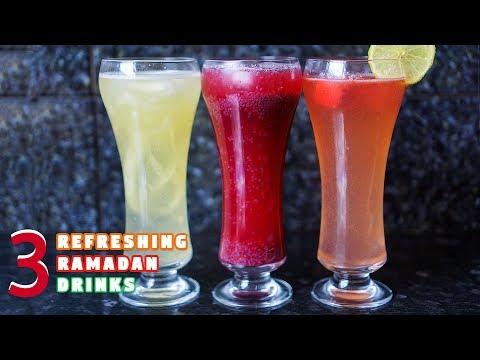 3 Easy Refreshing Ramadan Drinks | Ramadan Recipes