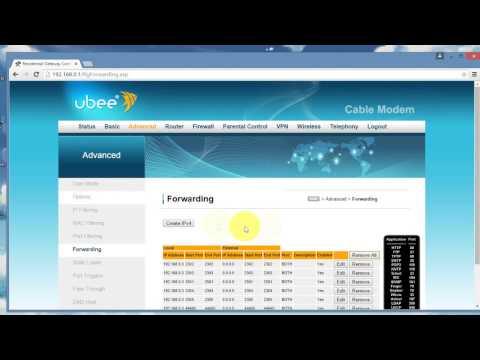 Abrir Puertos, configurar IPV4 y DMZ host, en Modem UBEE DVW 324