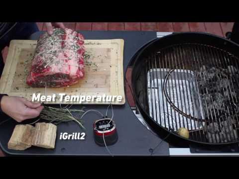 Charcoal Grilled Prime Rib Roast