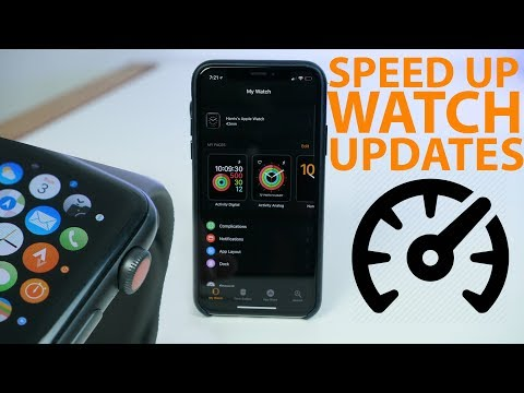 Dramatically speed up Apple Watch updates with this trick!