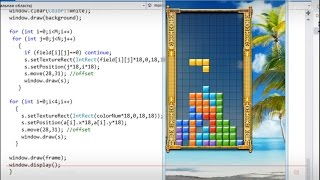 Let's make 16 games in C++: TETRIS