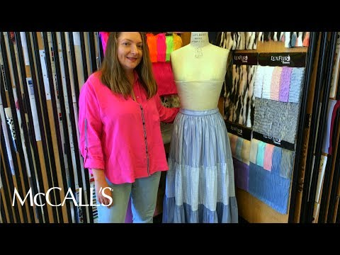 Learn to Sew: McCall's M7604 Tiered Ruffle Skirt