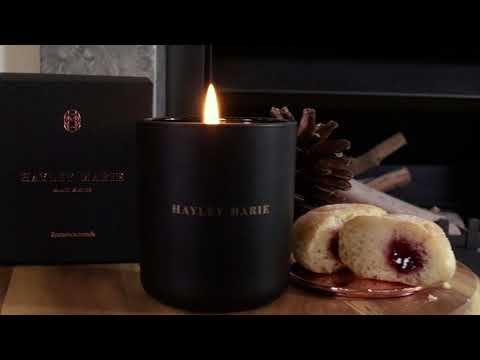 Hayley Marie Australia Black Winter Soy Candle Collection