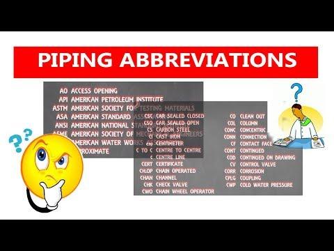 Piping abbreviation   Piping Official