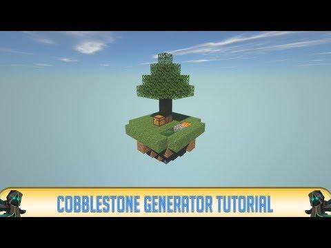 Minecraft: SkyBlock - How to Make a Cobblestone Generator in Skyblock! (2018) | Minecraft 1.12.2