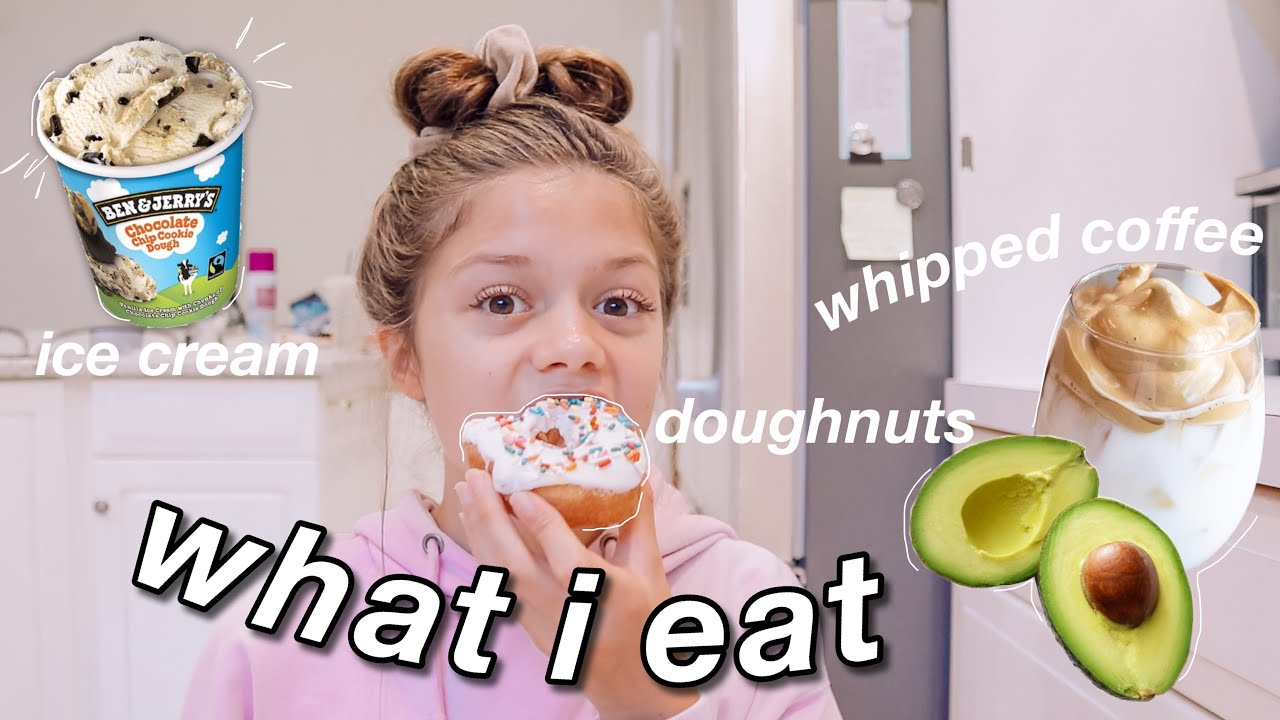 what i ACTUALLY eat in a week as an online school student
