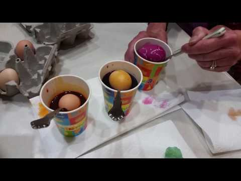 Dying colored or brown eggs