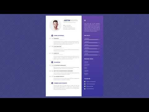 Free Professional Resume Template - Silent Blue
