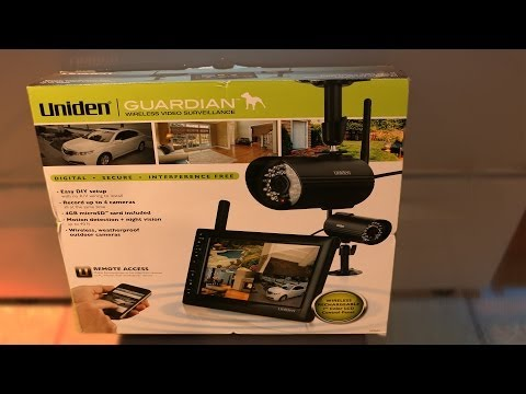 Uniden Guardian Wireless Video Surveillance Unboxing and First Test