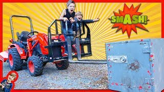 Smashing Open Abandoned Safe With A Tractor!   (is The Game Master Spying On Us?)