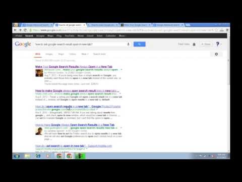 How To Permanently Open Google Search Result in New Tab without right click