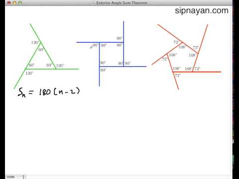 Proof that Polygon Exterior Angle Sum is 360 degrees